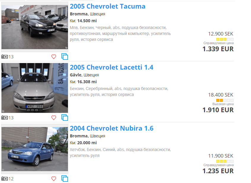 10ef221f5e42 Цены на авто в Швеции » Another Life