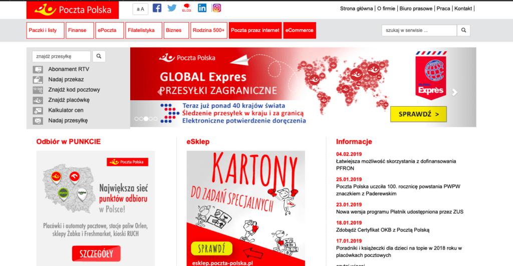 Sait polskoi pochti _Poczta Polska